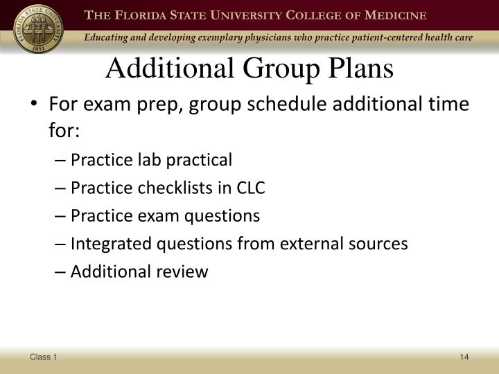 Additional Group Plans