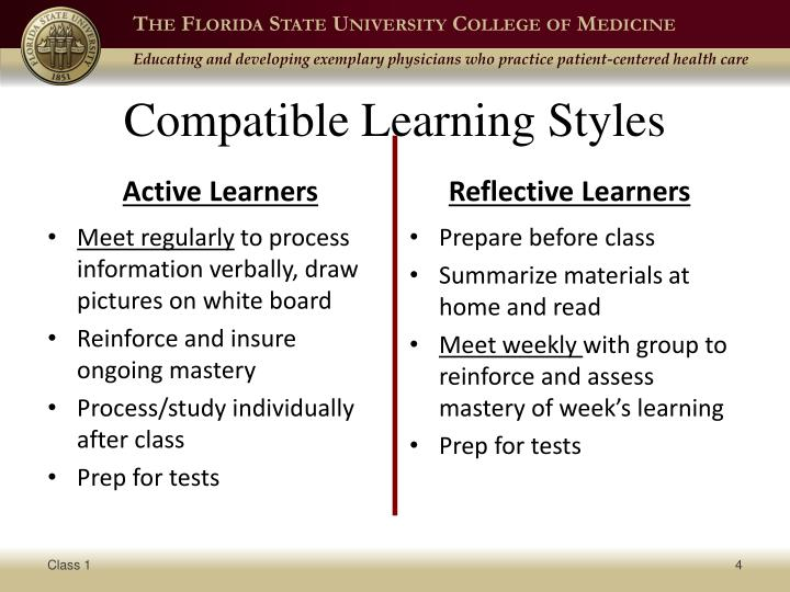 Compatible Learning Styles