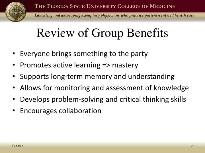 Review of Group Benefits