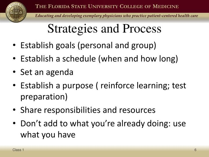 Strategies and Process
