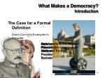 what makes a democracy introduction11