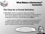 what makes a democracy introduction12