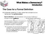 what makes a democracy introduction13
