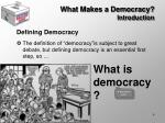 what makes a democracy introduction4