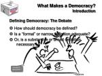 what makes a democracy introduction9