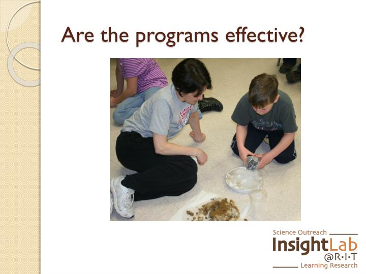 Are the programs effective?