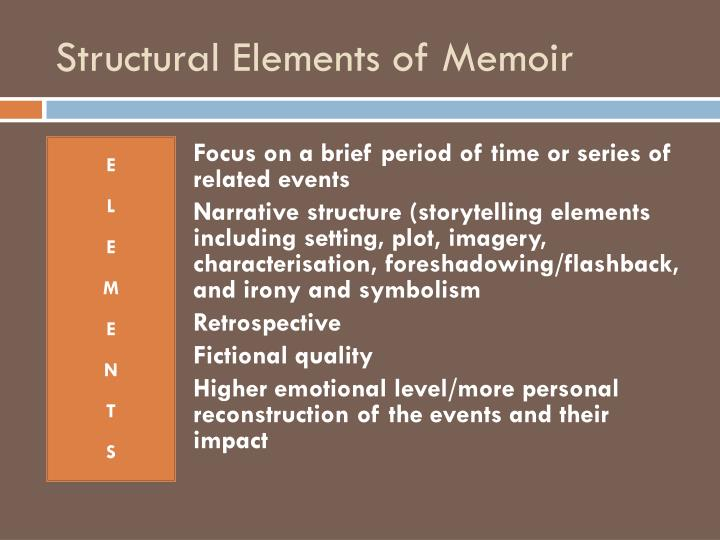 Structural Elements of Memoir