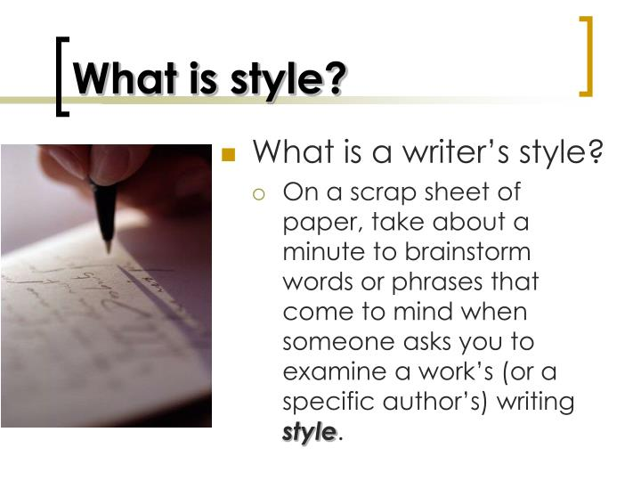 What is style?