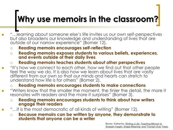 Why use memoirs in the classroom?