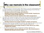 why use memoirs in the classroom
