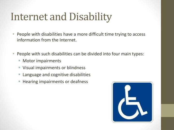 Internet and Disability