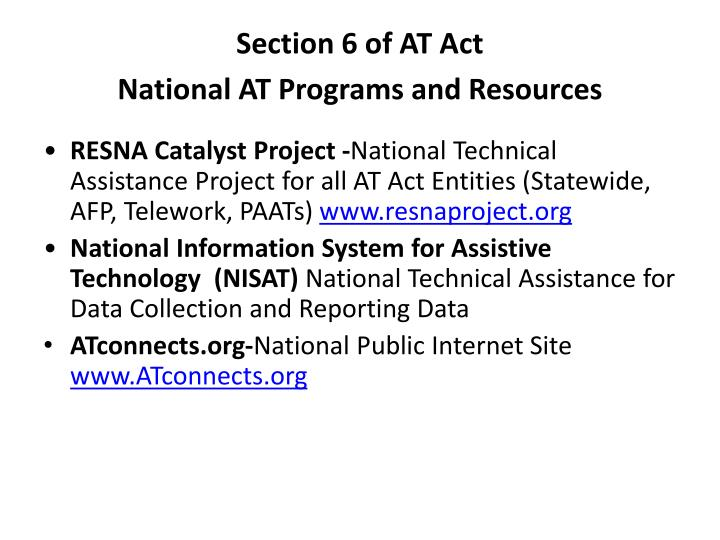 Section 6 of AT Act