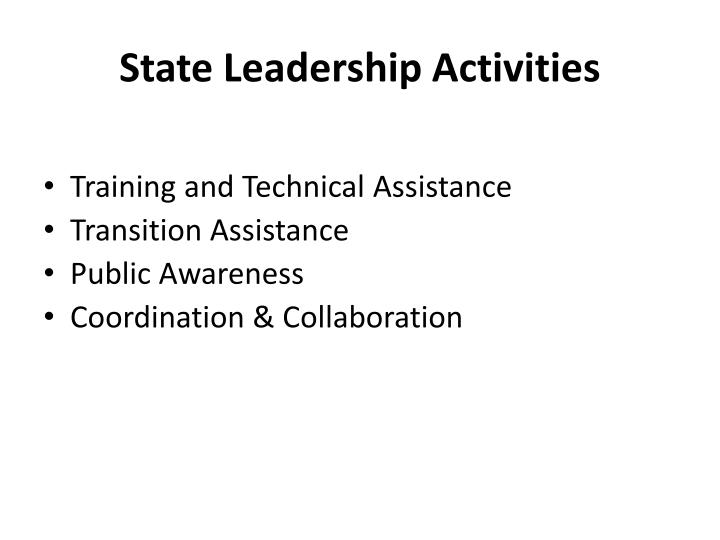 State Leadership Activities