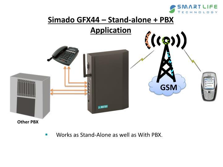 Simado GFX44 – Stand-alone + PBX Application