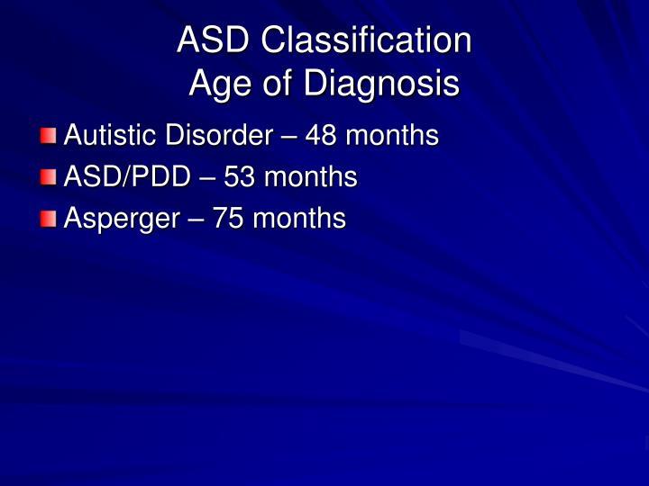 ASD Classification
