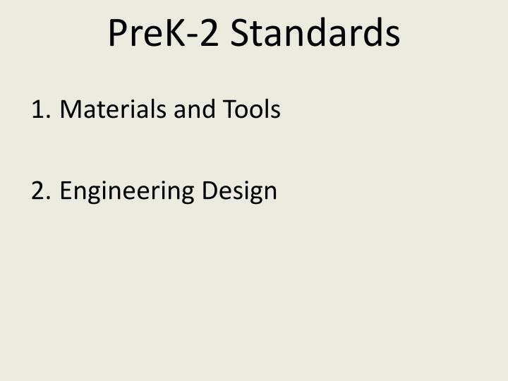 PreK-2 Standards