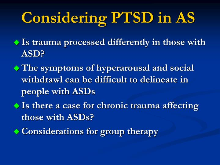 Considering PTSD in AS