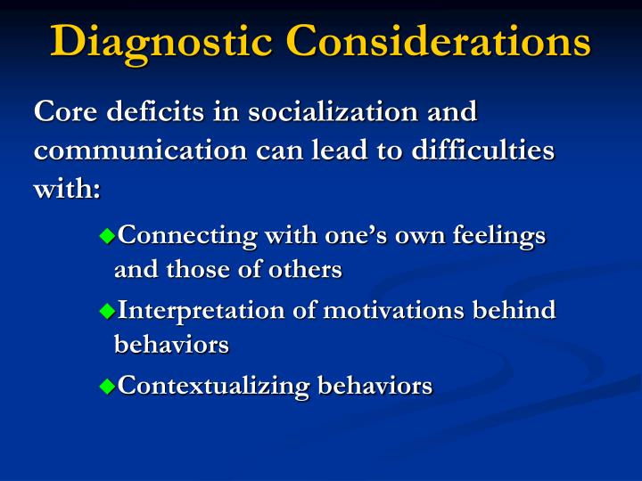 Diagnostic Considerations