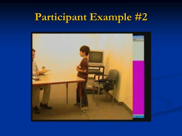 Participant Example #2