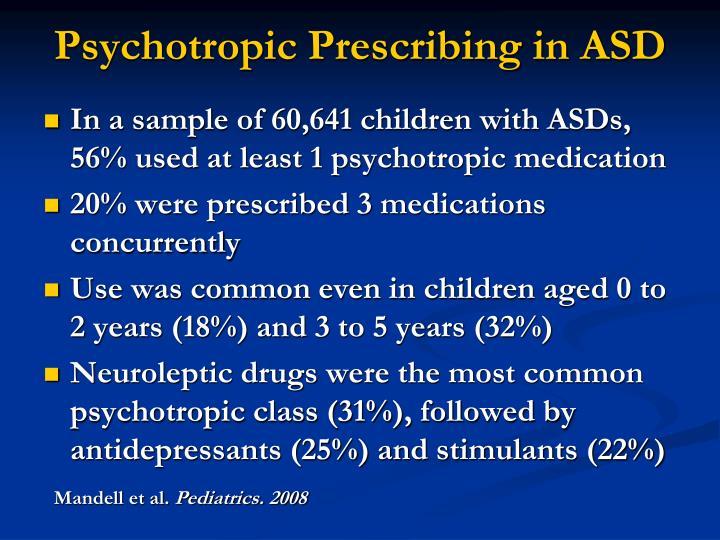 Psychotropic Prescribing in ASD