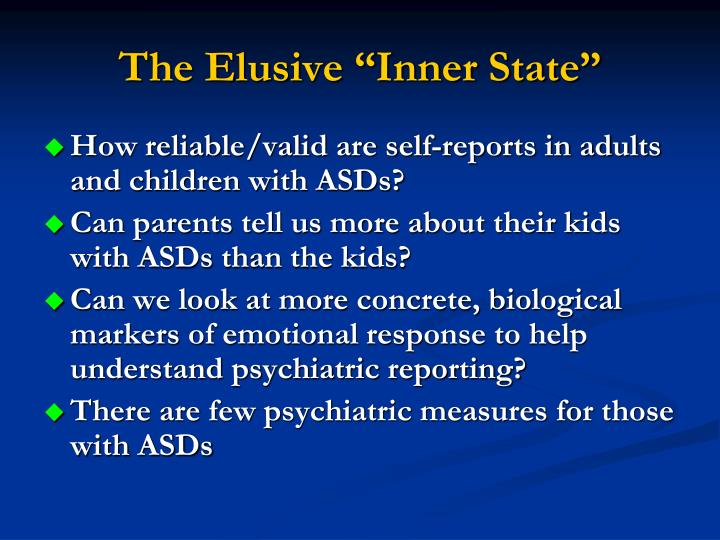 """The Elusive """"Inner State"""""""
