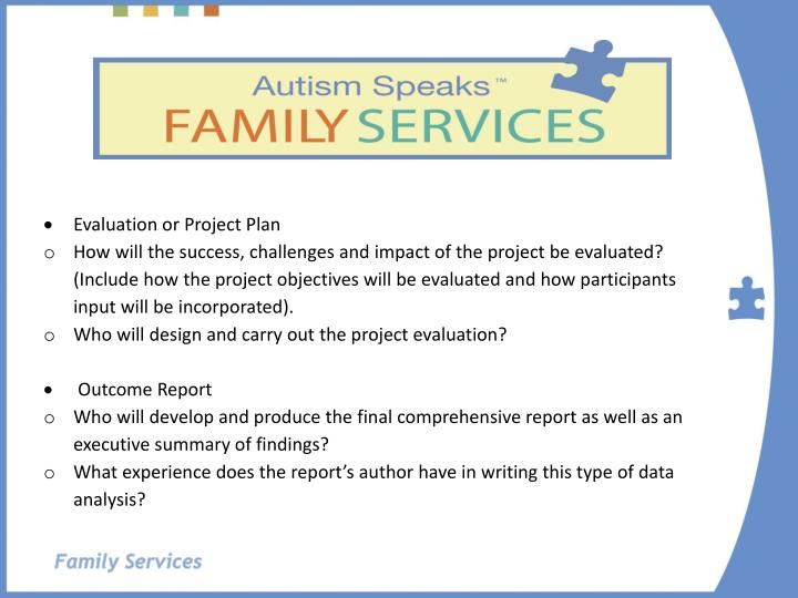 Evaluation or Project Plan