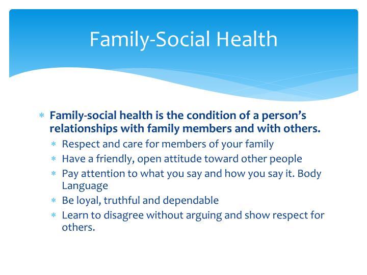 Family-Social Health