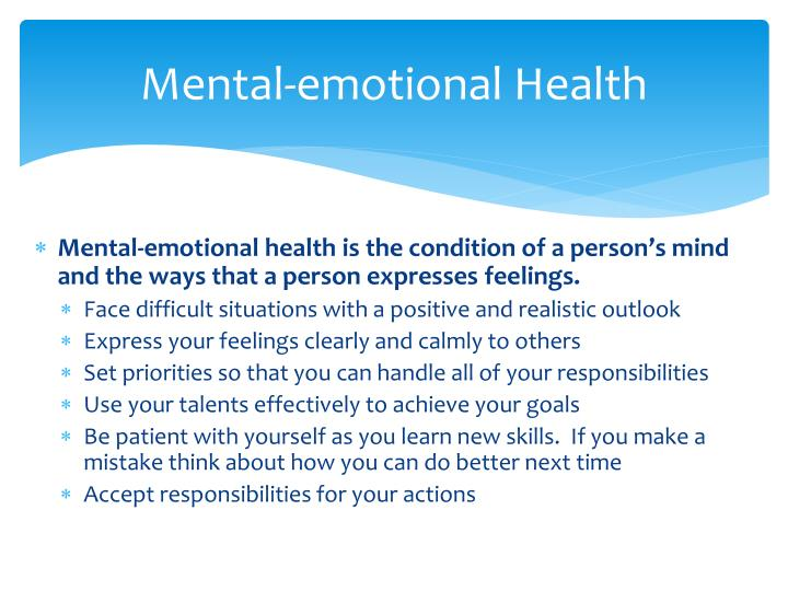 Mental-emotional Health