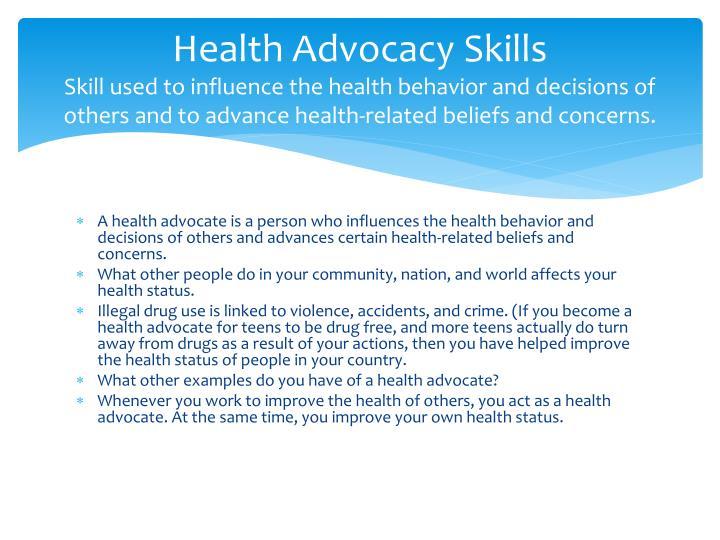 Health Advocacy Skills
