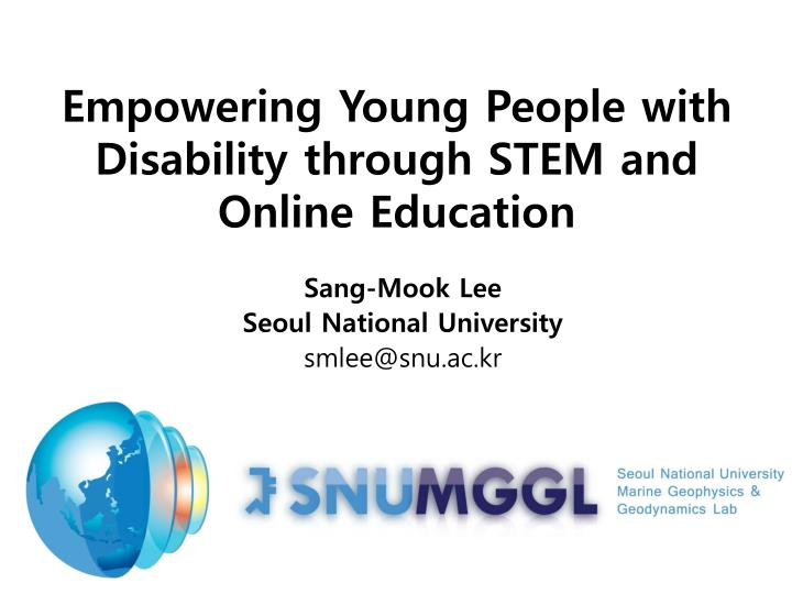 Empowering young people with disability through stem and online education
