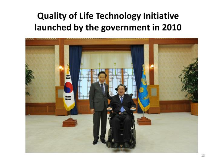 Quality of Life Technology Initiative launched