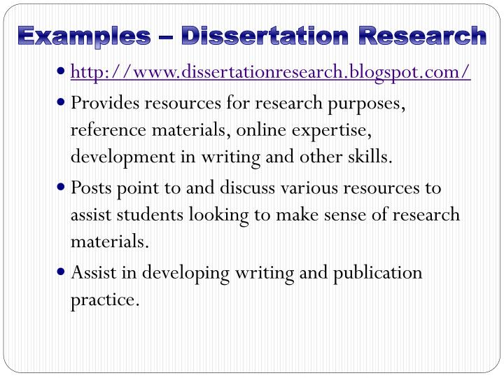 Examples – Dissertation Research