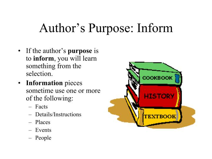 Author's Purpose: Inform