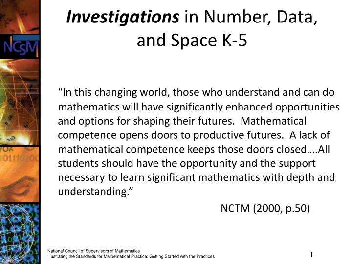 investigations in number data and space k 5
