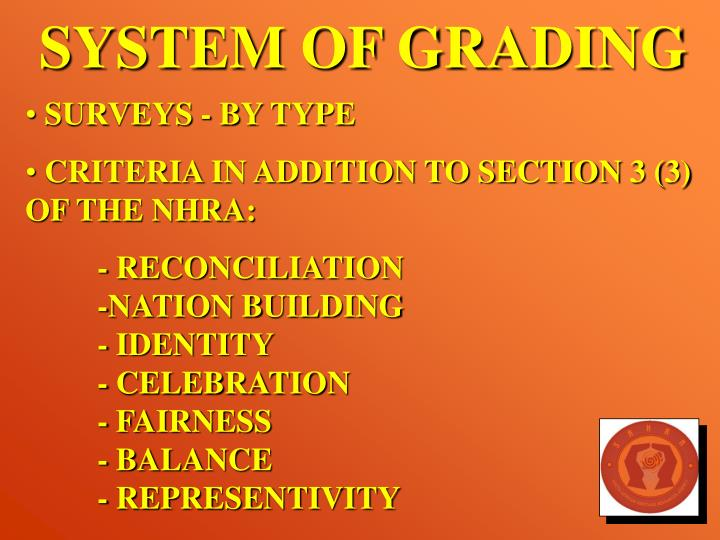 SYSTEM OF GRADING