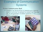 examples of communication systems