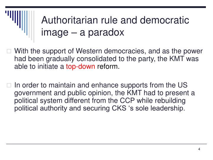 Authoritarian rule and democratic image – a paradox