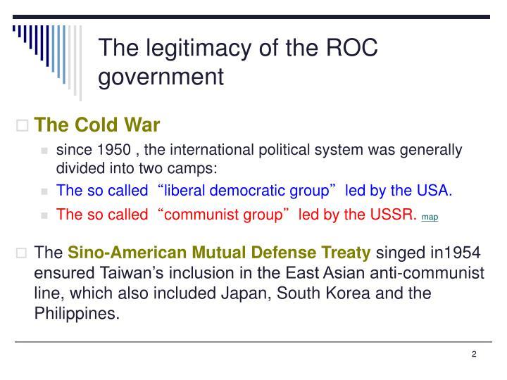 The legitimacy of the ROC government
