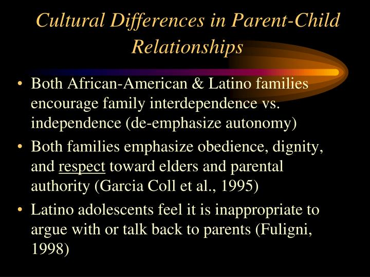 Cultural Differences in Parent-Child Relationships