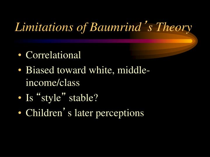 Limitations of Baumrind
