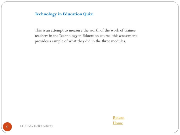 Technology in Education Quiz: