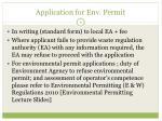 application for env permit
