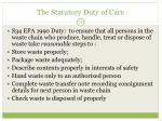 the statutory duty of care