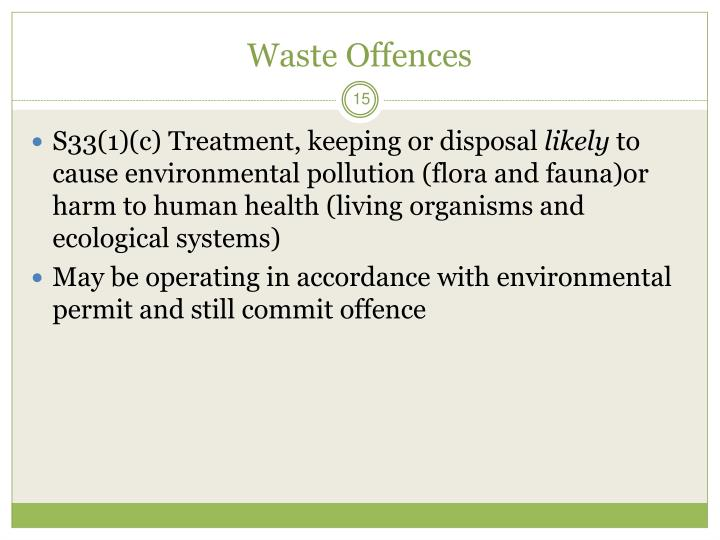 Waste Offences