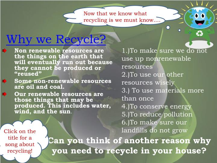 Why we Recycle?