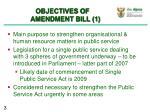 objectives of amendment bill 1