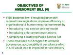 objectives of amendment bill 4