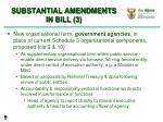 substantial amendments in bill 3