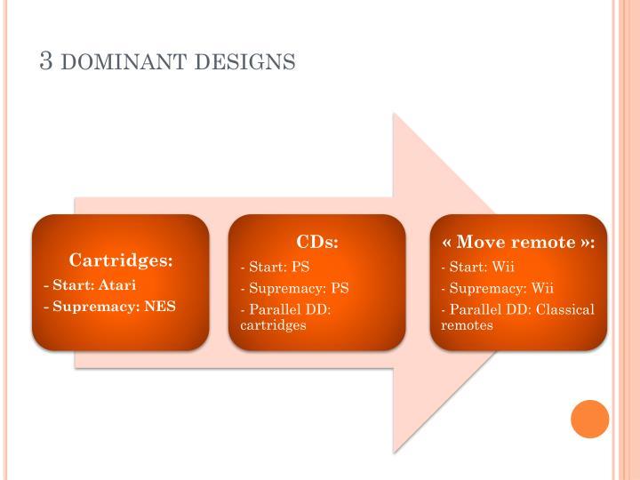 3 dominant designs