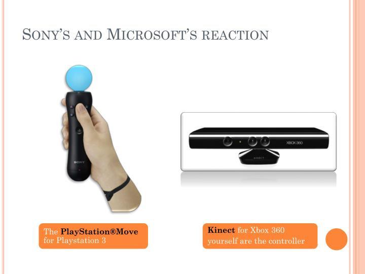 Sony's and Microsoft's reaction